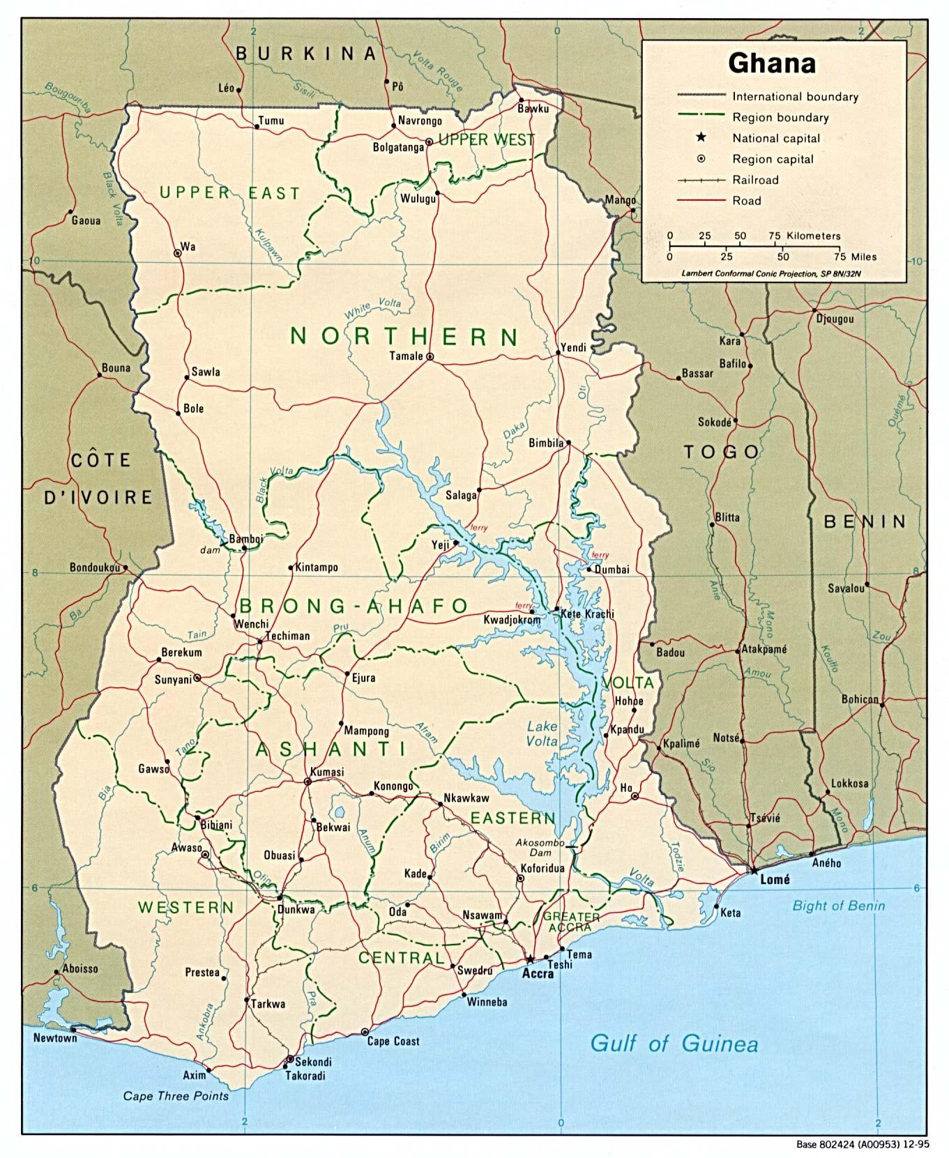 Karta Over Kenya Visar Stader I Ghana Karta Med Stader Vastra