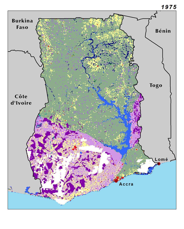 Fysisk Karta Over Ghana Topografiska Karta I Ghana I Vastra